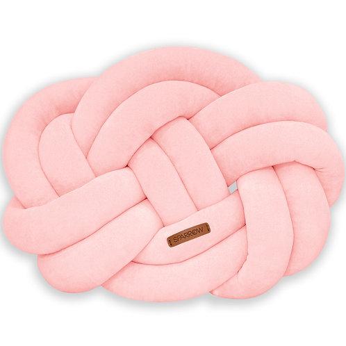 Poduszka supeł PRECEL/ knot pillow / knot cushion - brzoskwiniowy róż