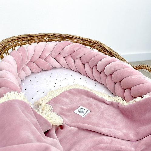 SLIM fishtail braid/kłos welurowy / Warkocz do łóżeczka