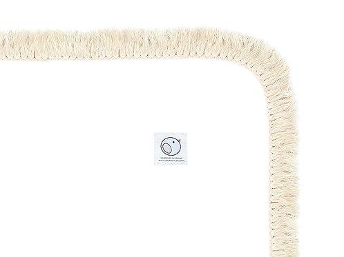 Welurowy kocyk dziecięcy / BOHO Collection 75x100cm / biały