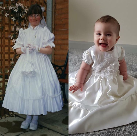 christening dress from communion dress f