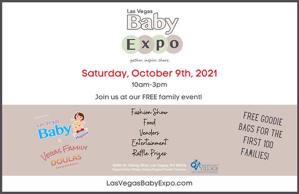 Las Vegas Baby Magazine 2021 Expo Free Family Event