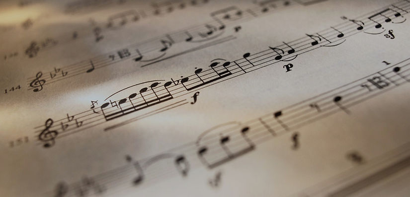 Flute sheet music with sixteenth and eighth notes