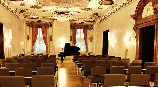 Concert hall in Austria with a grand piano