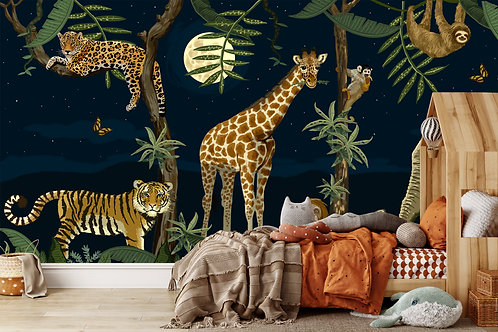 Wallposter Jungle by night