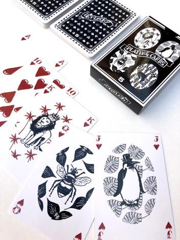 Illustraties Playing Cards 'animals'