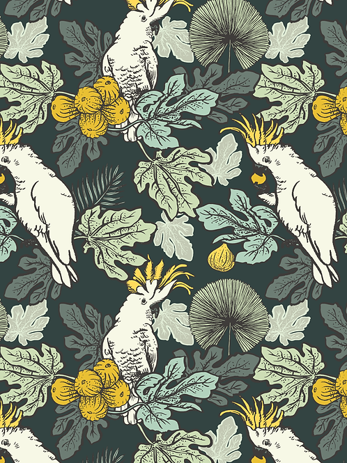 Wallpaper Cockatoos and figs