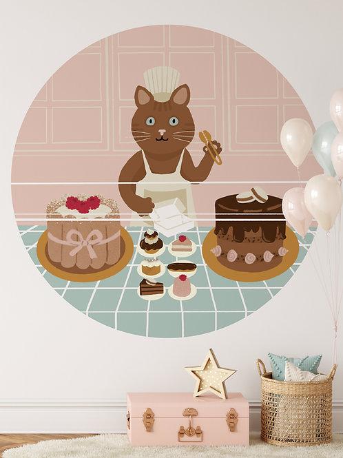 Wallpaper circle Macaron Meow!