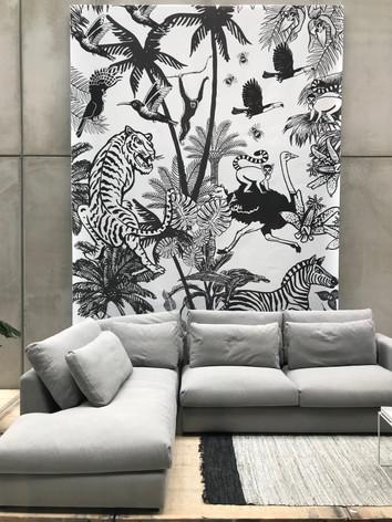 Illustratie 'Wildlife taking over'