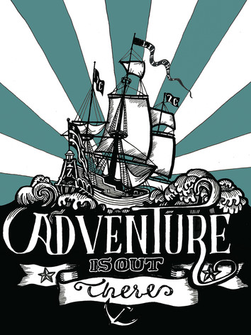 Illustratie 'Adventure is out there'