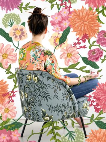 Illustratie 'Floral power'