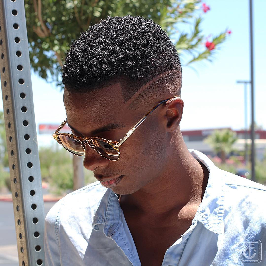 High Fade Haircut + Sponge Curls