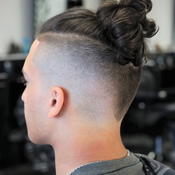 Undercut + Samurai + V-cut neckline
