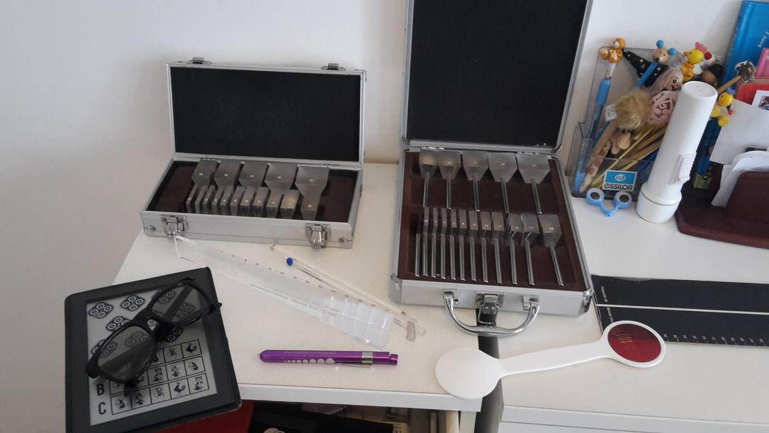 Instruments d'orthoptie