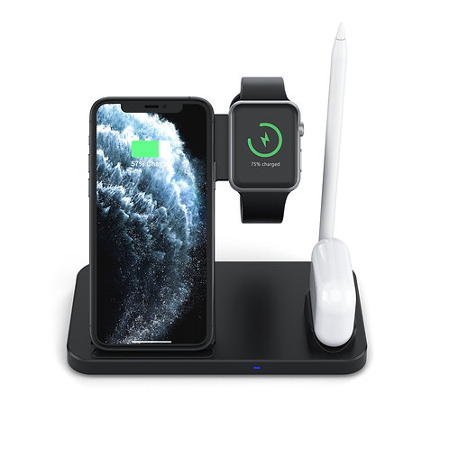 4 in 1 Qi-Certified Fast Charging Station