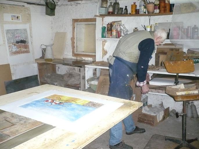 louttre b atelier de gravure