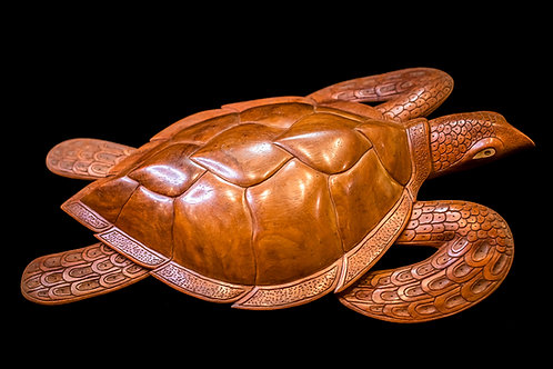 Carved Wood Turtle overview