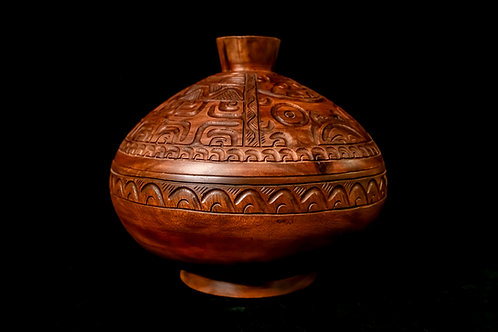 LARGE LIDDED BOWL  FROM THE MARQUESAS ISLANDS, FRENCH POLYNESIA