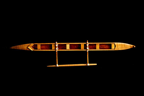 "40"" OUTRIGGER CANOE - KELE HAYWARD - KAUAI"