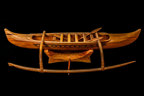 Model canoe samoa side view