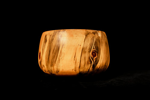 Hawaiian umeke bowl carved from Cook Pine wood by Robin Clark