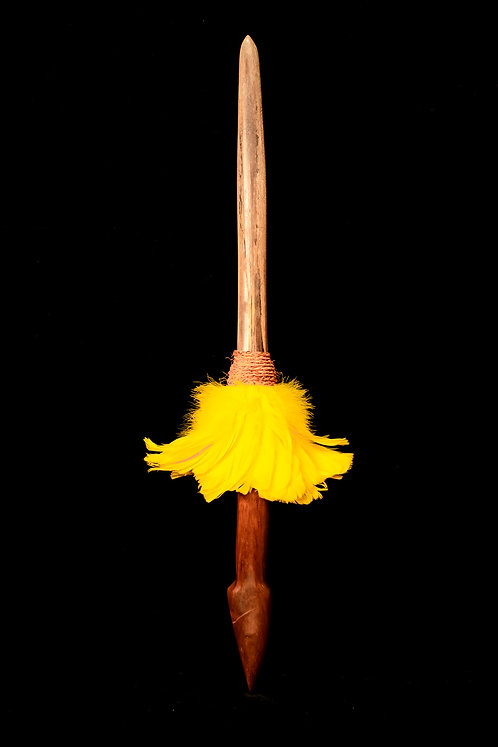 YELLOW FEATHER PAHOA - HAWAIIAN TRADITIONAL WEAPON