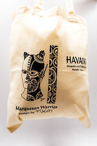 Havaiki Tote Bag with Marquesan Warrior art by Tihoti