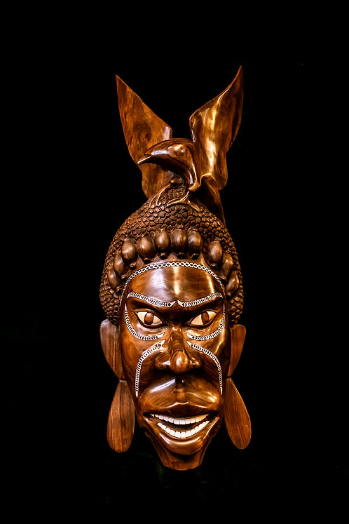 WARRIOR MASK WITH EAGLE - SOLOMON ISLANDS
