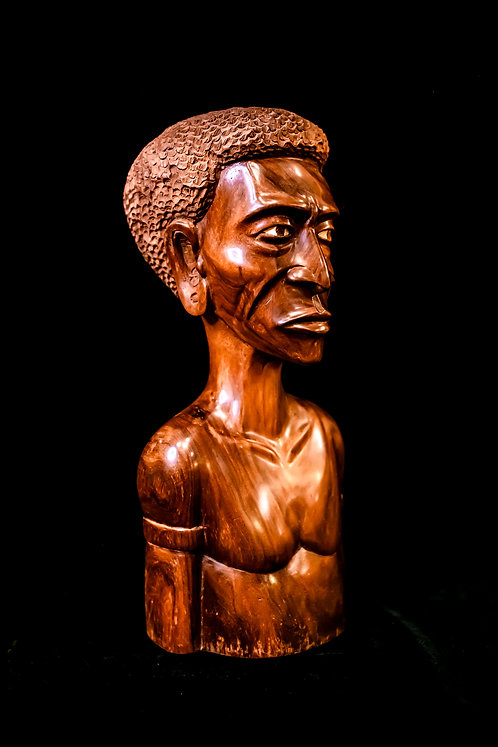hand-carved from wood - figure of ancestor Solomon Islands