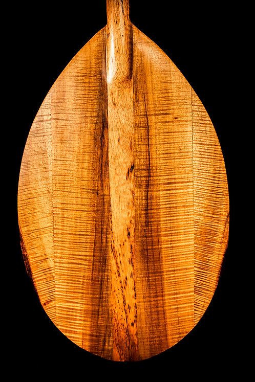 face of koa wood paddle Hawaii