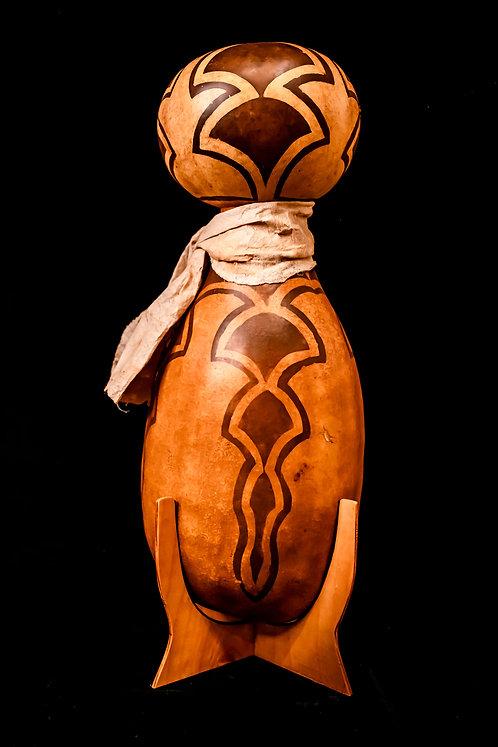 HAWAIIAN IPU HEKE - DOUBLE CALABASH GOURD BY MICHAEL HARBURG