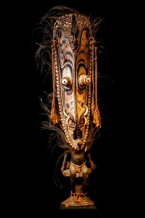 ORATOR'S STOOL - IATMUL PEOPLE - MIDDLE SEPIK - PAPUA NEW GUINEA