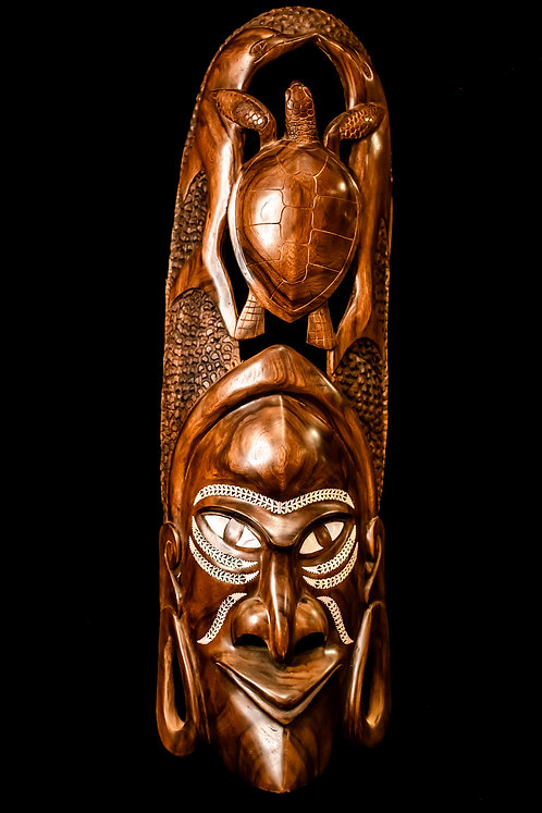 WARRIOR MASK WITH TURTLE– SOLOMON ISLANDS