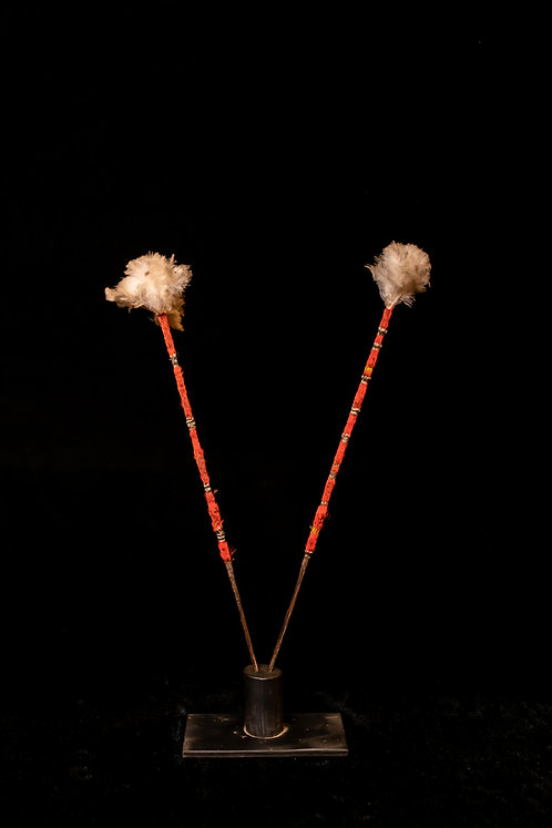 RED FEATHER DANCE STICKS – SANTA CRUZ ARCHIPELAGO – SOLOMON ISLANDS