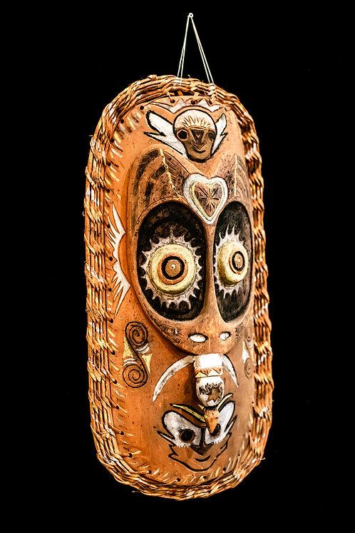 BLACKWATER ANCESTOR MASK KABRIMAN VILLAGE - PAPUA NEW GUINEA