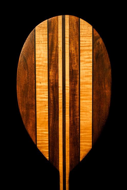 Hawaiian Koa wood, Maple and Black Palm.