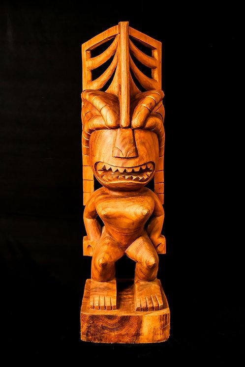 Hawaiian Tiki Akua Warrior front