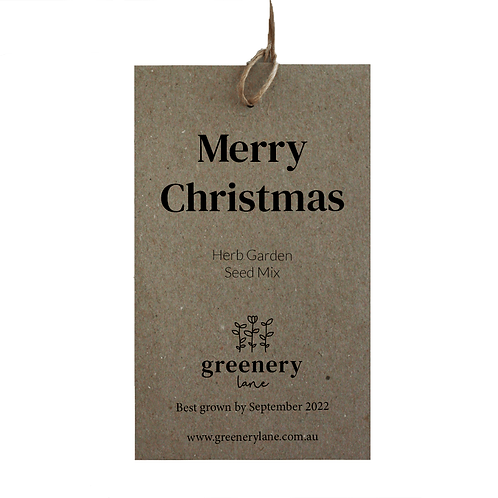 Christmas Seed Packet / Gift Tag