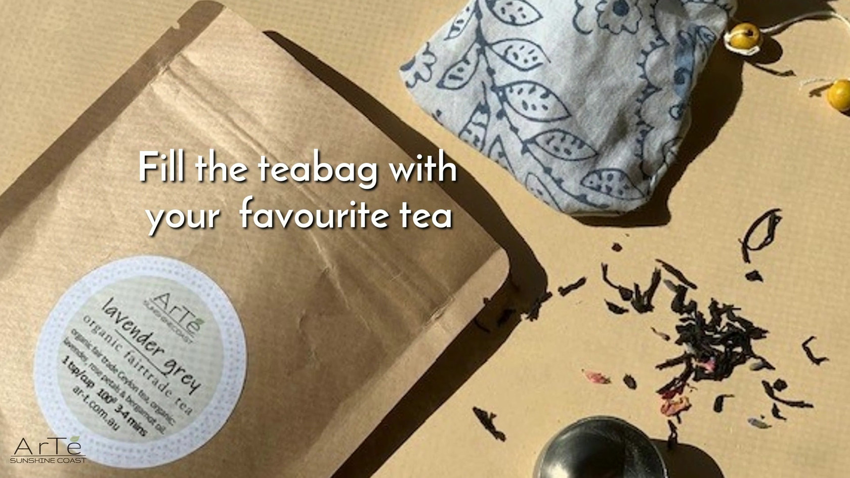Upcycle fabric into reuseable tea bags