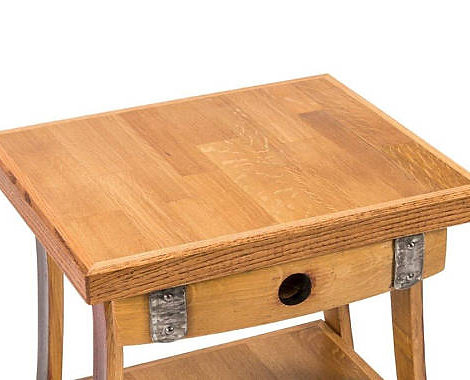 Wine Barrel End Table / Night Stand $385 + $125 Shipping