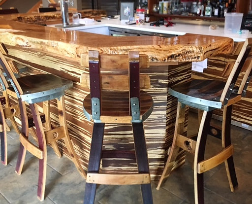 Wine Barrel Swivel Barstool (With Back Rest) $365 + $65 Shipping Part 60