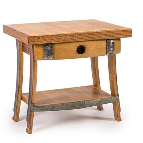 Wine Barrel End Table Night Stand 385 125 Shipping