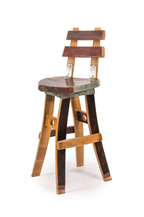 These Fallen Oak Barstools Are Entirely Handmade From Repurposed Wine Barrels Sourced Napa And Surrounding Regions Each Stool Is A Unique