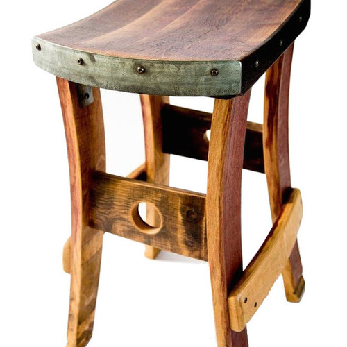 Wine Barrel Barstool 255 50 Shipping