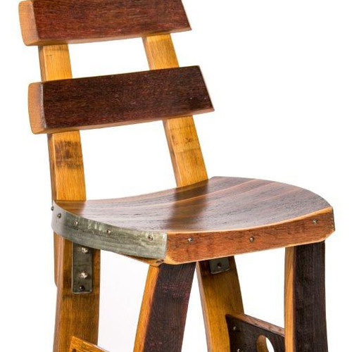 Wine Barrel Barstool Tall Back 315 65 Shipping