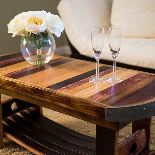 Wine Barrel Coffee Table 745 275