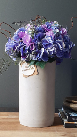 tall violet hydrangea (not available)
