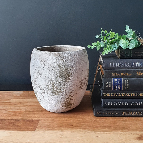 large earthy pot