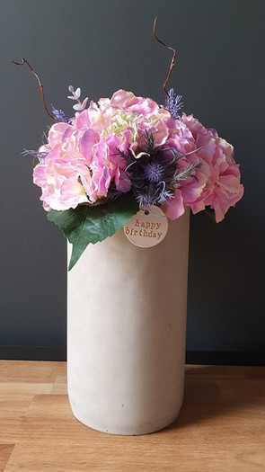 tall soft pink hydrangea (not available)
