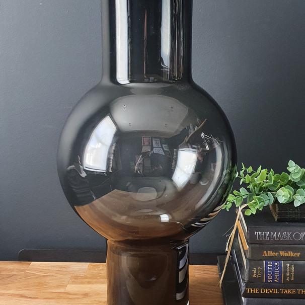 storm blue floor vase