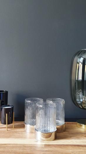 Retro Silver & Glass Vase £20 (each)